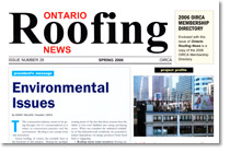 Ontario Roofing News